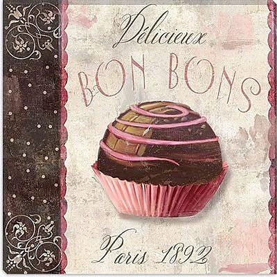 iCanvas Color Bakery ''Patisserie (Bon Bons)'' Graphic Art on Canvas; 12'' H x 12'' W x 0.75'' D