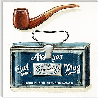 iCanvas Decorative Art ''Pipe and Tobacco'' by Lisa Audit Vintage Advertisement on Canvas