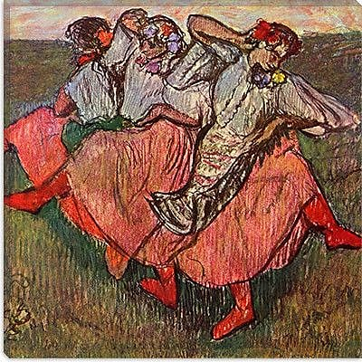 iCanvas ''Russian Dancers'' by Edgar Degas Painting Print on Canvas; 18'' H x 18'' W x 1.5'' D