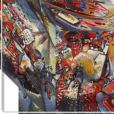 iCanvas ''Moscow'' by Wassily Kandinsky Graphic Art on Canvas; 18'' H x 18'' W x 1.5'' D
