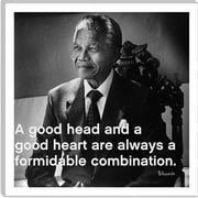 iCanvas Icons, Heroes and Legends Nelson Mandela Quote Photographic Print on Canvas