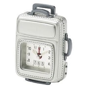 Chass Luggage Alarm Clock; Silver