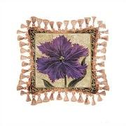 Fine Art Tapestries Tulip Unveiled I Cotton Throw Pillow