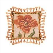 Fine Art Tapestries Tulip Unveiled IV Cotton Throw Pillow