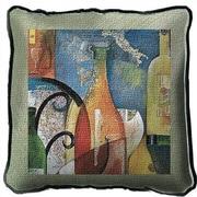Fine Art Tapestries Vino Throw Pillow