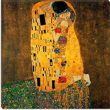 iCanvas 'The Kiss' by Gustav Klimt Painting Print on Wrapped Canvas; 12'' H x 12'' W x 0.75'' D