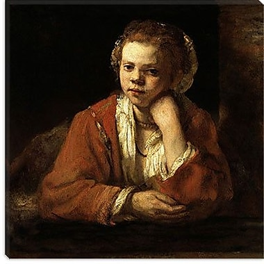 iCanvas ''The Kitchen Maid'' Canvas Wall Art by Rembrandt; 12'' H x 12'' W x 1.5'' D