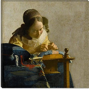 iCanvas ''The Lacemaker'' by Johannes Vermeer Painting Print on Wrapped Canvas
