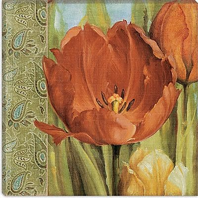 iCanvas Decorative Art ''Tulip Paisley'' by Lisa Audit Painting Print on Wrapped Canvas