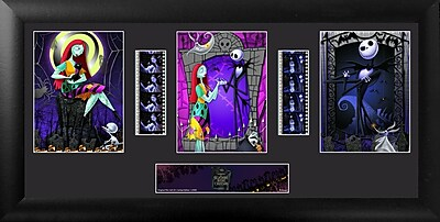 Trend Setters Nightmare Before Christmas Trio FilmCell Presentation Framed Graphic Art