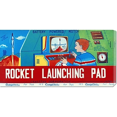 Global Gallery 'Rocket Launching Pad' by Retrorocket Vintage Advertisement on Wrapped Canvas