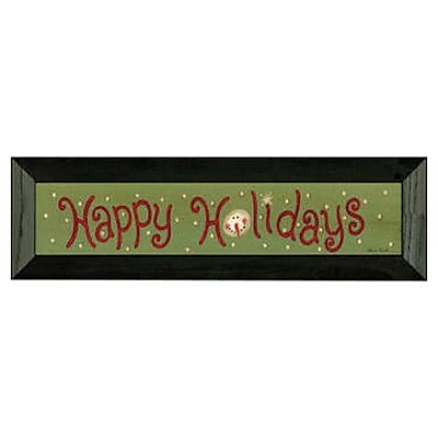 Timeless Frames Happy Holiday by Becca Barton Framed Textual Art