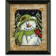 Timeless Frames Feathered Friend Winter and Holiday by Mary Ann June Framed Graphic Art