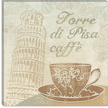 iCanvas 'Caffe Pisa' by Erin Clark Vintage Advertisement on Canvas; 26'' H x 26'' W x 0.75'' D