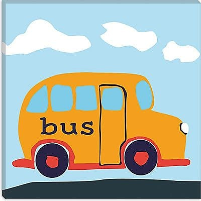 iCanvas Decorative Art ''Yellow School Bus'' Canvas Wall Art; 26'' H x 26'' W x 1.5'' D