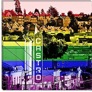 iCanvas Castro District in San Francisco, Gay Flag Graphic Art on Canvas; 12'' H x 12'' W x 0.75'' D