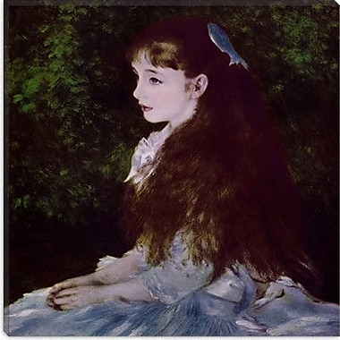 iCanvas ''Girl with a Blue Ribbon'' Canvas Wall Art by Auguste Renoir; 37'' H x 37'' W x 0.75'' D
