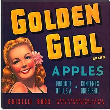 iCanvas Golden Girl Apples Vintage Crate Label Vintage Advertisement on Canvas