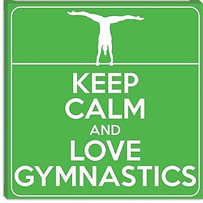 iCanvas Keep Calm and Love Gymnastics Graphic Art on Canvas; 37'' H x 37'' W x 1.5'' D