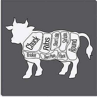 iCanvas Kitchen Beef Chart Graphic Art on Canvas; 26'' H x 26'' W x 0.75'' D