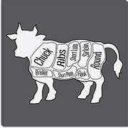 iCanvas Kitchen Beef Chart Graphic Art on Canvas; 12'' H x 12'' W x 0.75'' D