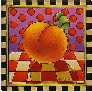 iCanvas Decorative ''Be Bop a Lula Peach'' by Shelly Bedsaul Painting Print on Canvas
