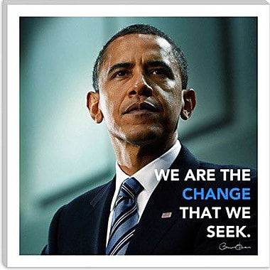 iCanvas Icons, Heroes and Legends Barack Obama Quote Photographic Print on Canvas