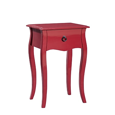 Gallerie Decor Lido 1 Drawer Accent Cabinet; Red