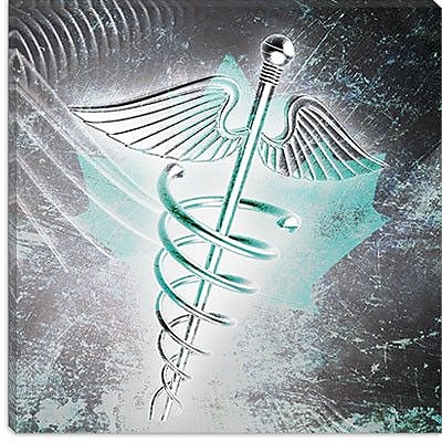 iCanvas Canada Health Care Graphic Art on Canvas; 12'' H x 12'' W x 0.75'' D