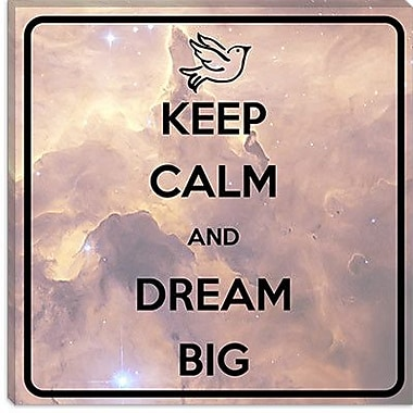 iCanvas Keep Calm and Dream Big Graphic Art on Canvas; 37'' H x 37'' W x 0.75'' D
