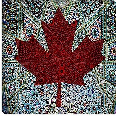 iCanvas Canadian Flag, Maple Leaf #4 Graphic Art on Canvas; 18'' H x 18'' W x 0.75'' D