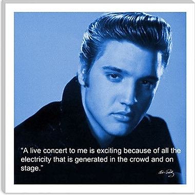 iCanvas Elvis Presley Quote Photographic Print on Canvas; 37'' H x 37'' W x 1.5'' D