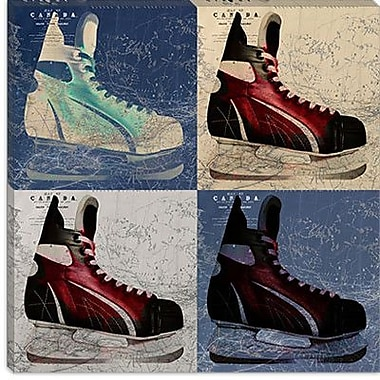 iCanvas Canada Hockey Ice Skates Graphic Art on Canvas; 37'' H x 37'' W x 1.5'' D
