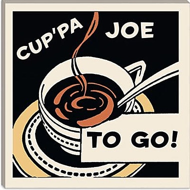 iCanvas Cup Pa Joe To Go Vintage Advertisement on Canvas; 18'' H x 18'' W x 0.75'' D