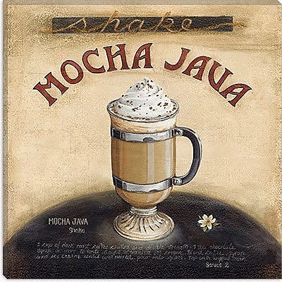 iCanvas ''Mocha Java'' by Lisa Audit Vintage Advertisement on Canvas; 37'' H x 37'' W x 0.75'' D