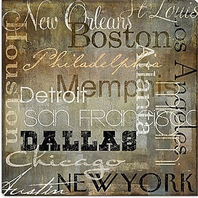 iCanvas 'Cities of The World I' byColor Bakery Textual Art on Canvas; 18'' H x 18'' W x 0.75'' D