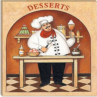 iCanvas ''Desserts'' by John Zaccheo Painting Print on Canvas; 18'' H x 18'' W x 0.75'' D