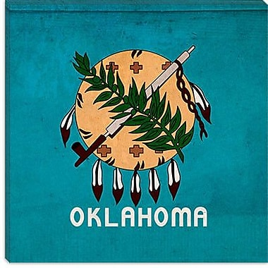 iCanvas Flags Oklahoma Graphic Art on Canvas; 12'' H x 12'' W x 1.5'' D