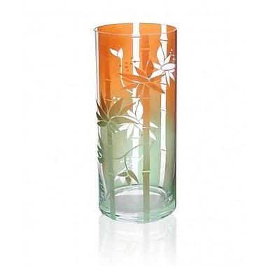 Womar Glass Hawaiian Vase; 11'' H x 4.75'' W x 4.75'' D