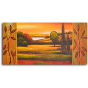 My Art Outlet Pasture to Lake Painting on Wrapped Canvas
