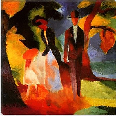 iCanvas 'People by a Blue Lake' by August Macke Painting Print on Canvas; 12'' H x 12'' W x 1.5'' D