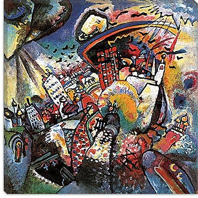 iCanvas ''Moscow II'' by Wassily Kandinsky Graphic Art on Canvas; 18'' H x 18'' W x 0.75'' D