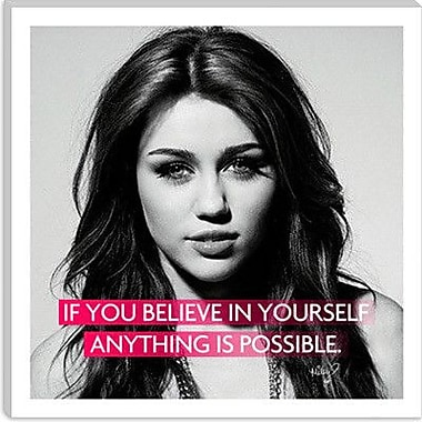 iCanvas Icons, Heroes and Legends Miley Cyrus Quote Photographic Print on Canvas