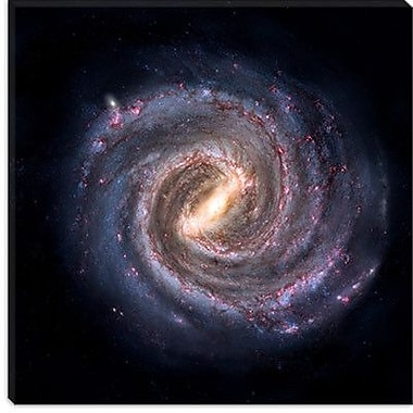 iCanvas ''Milky Way Galaxy Concept'' Graphic Art on Wrapped Canvas; 26'' H x 26'' W x 1.5'' D