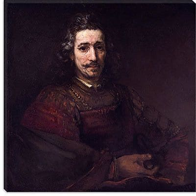 iCanvas ''Man with a Magnifying Glass'' Cancas Wall Art by Rembrandt; 37'' H x 37'' W x 1.5'' D