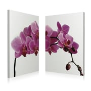 Artistic Bliss Pink Orchid 2 Piece Framed Photographic Print Set; 20'' H x 14'' W x 1'' D