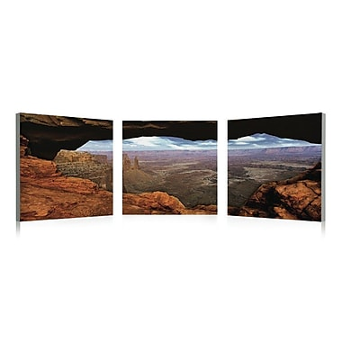 Artistic Bliss Grand Canyon 3 Piece Framed Photographic Print Set; 20'' H x 20'' W x 1'' D