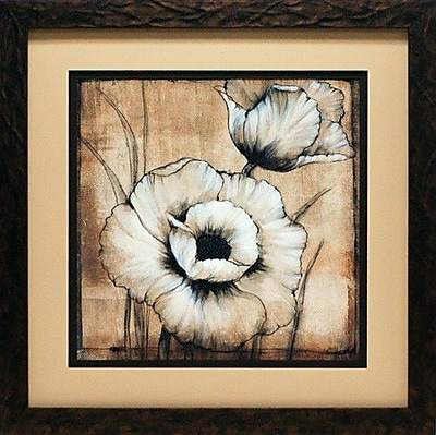 North American Art Neutral Poppies I by Tim O'Toole Framed Painting Print