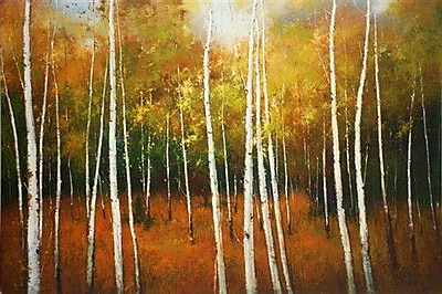 North American Art Forest Spires by Scott Clifton Painting Print on Wrapped Canvas