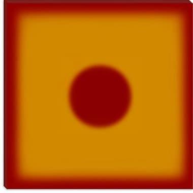 iCanvas Modern Hot Sun Graphic Art on Canvas; 12'' H x 12'' W x 0.75'' D